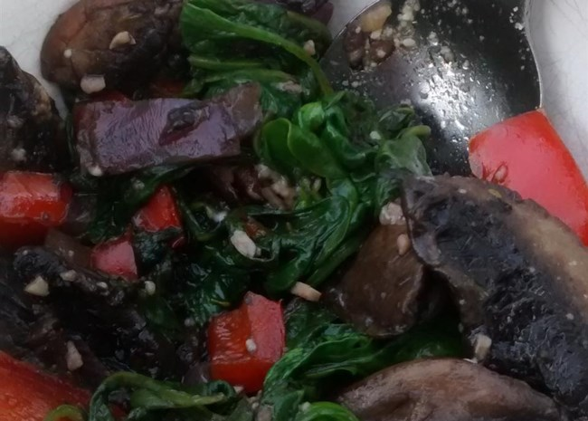 Sauteed Portobellos and Spinach