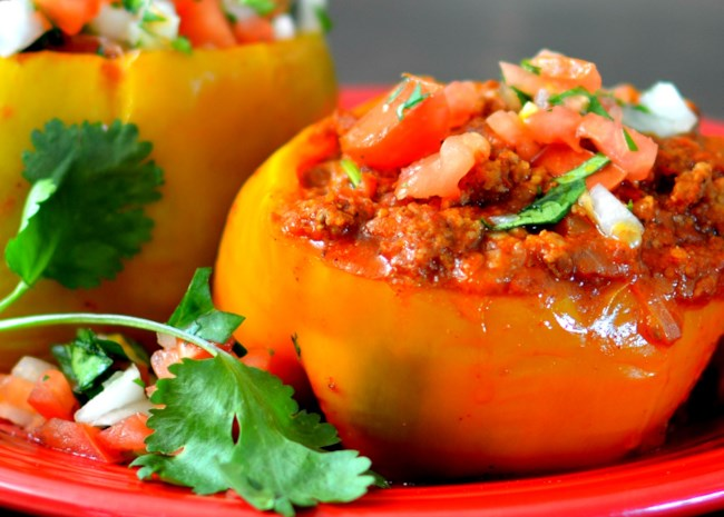 Instant Pot® Beef-Stuffed Peppers
