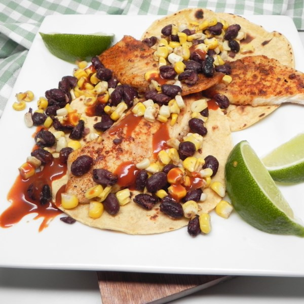 Air Fryer Blackened Fish Tacos