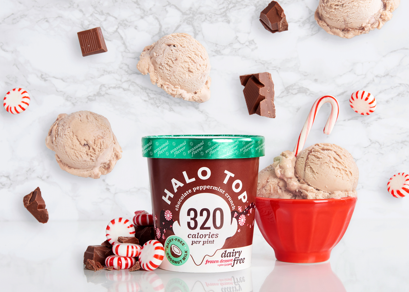 Halo Top Chocolate Peppermint Crunch