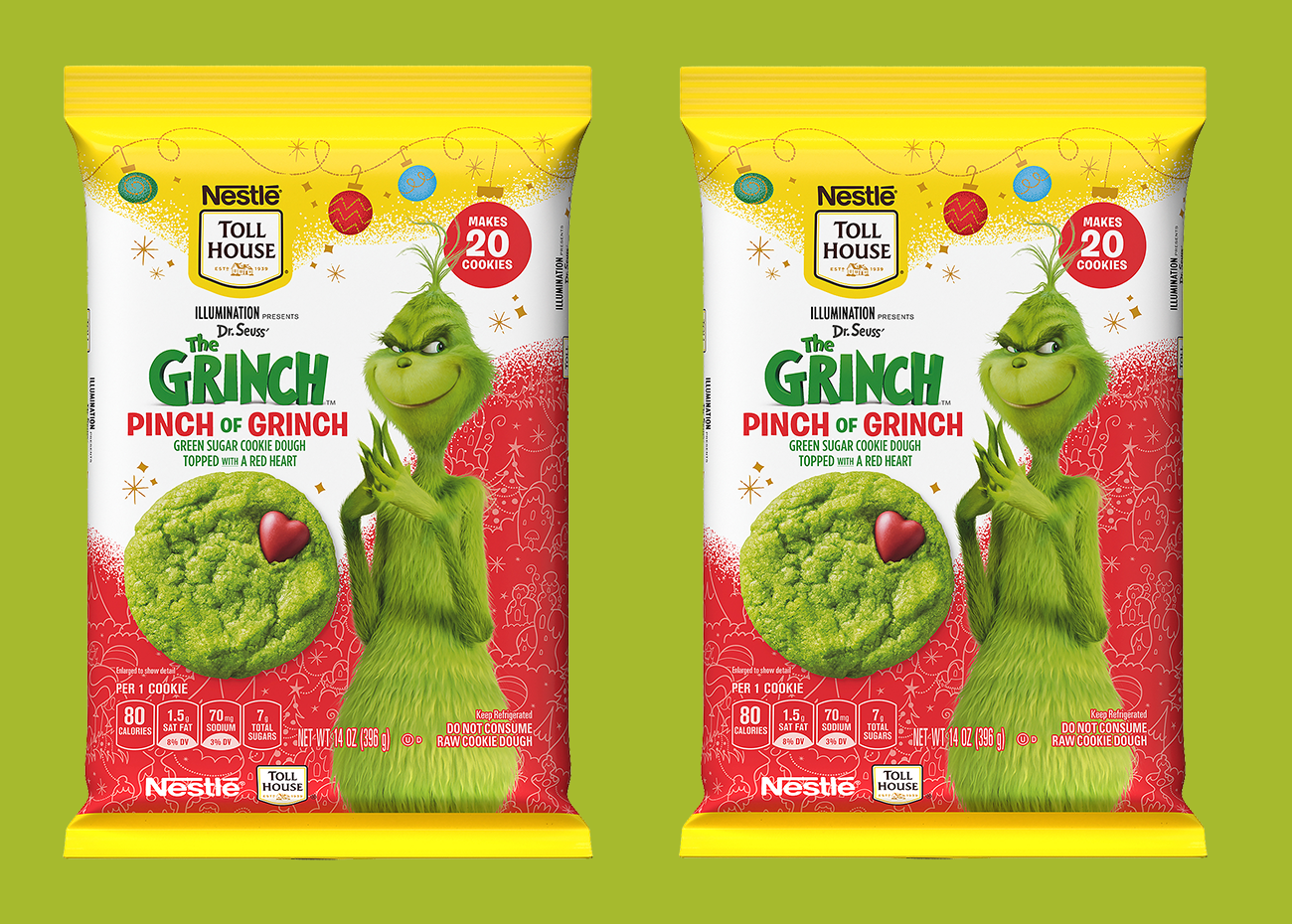 Nestle Toll House Pinch of Grinch Cookies