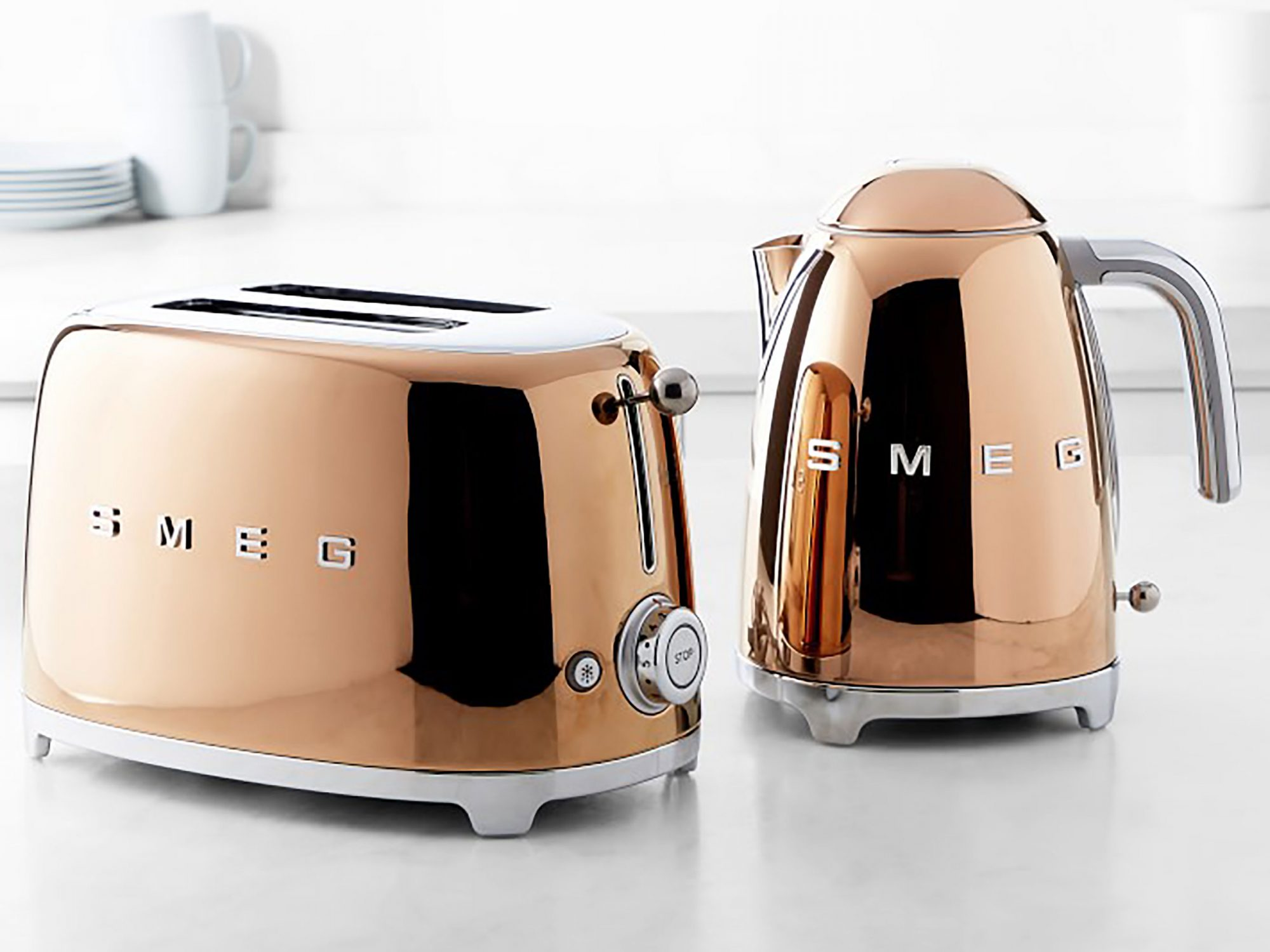 SMEG Rose Gold Kettle and Toaster