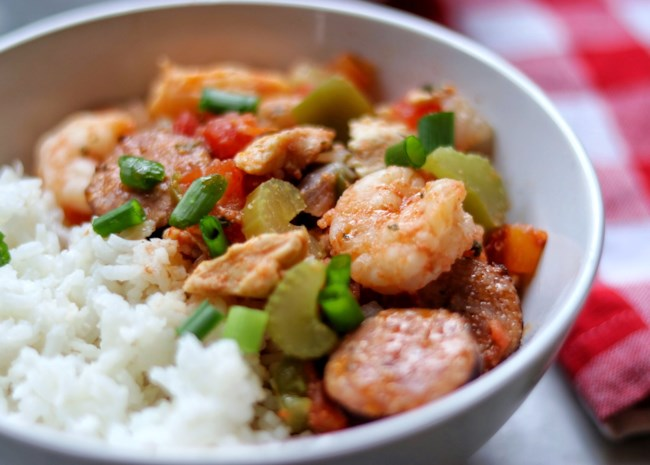 Instant Pot Jambalaya with Shrimp and Chicken