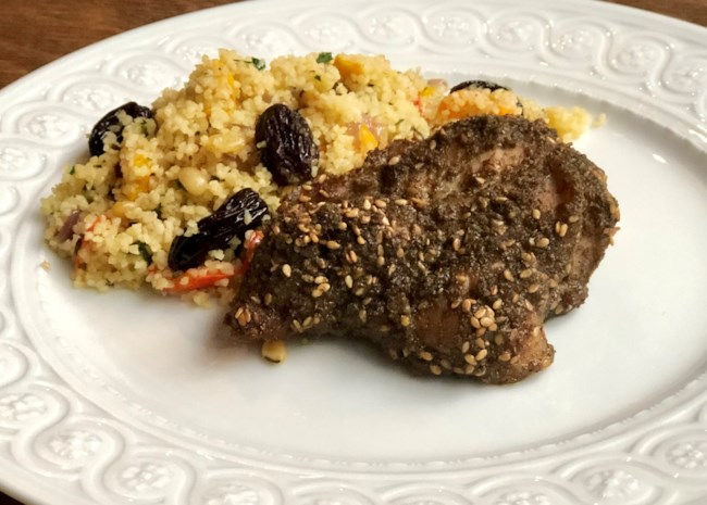 Baked Za'atar Chicken Thighs