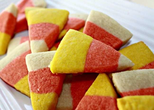 Best Rolled Sugar Cookies Candy Corn