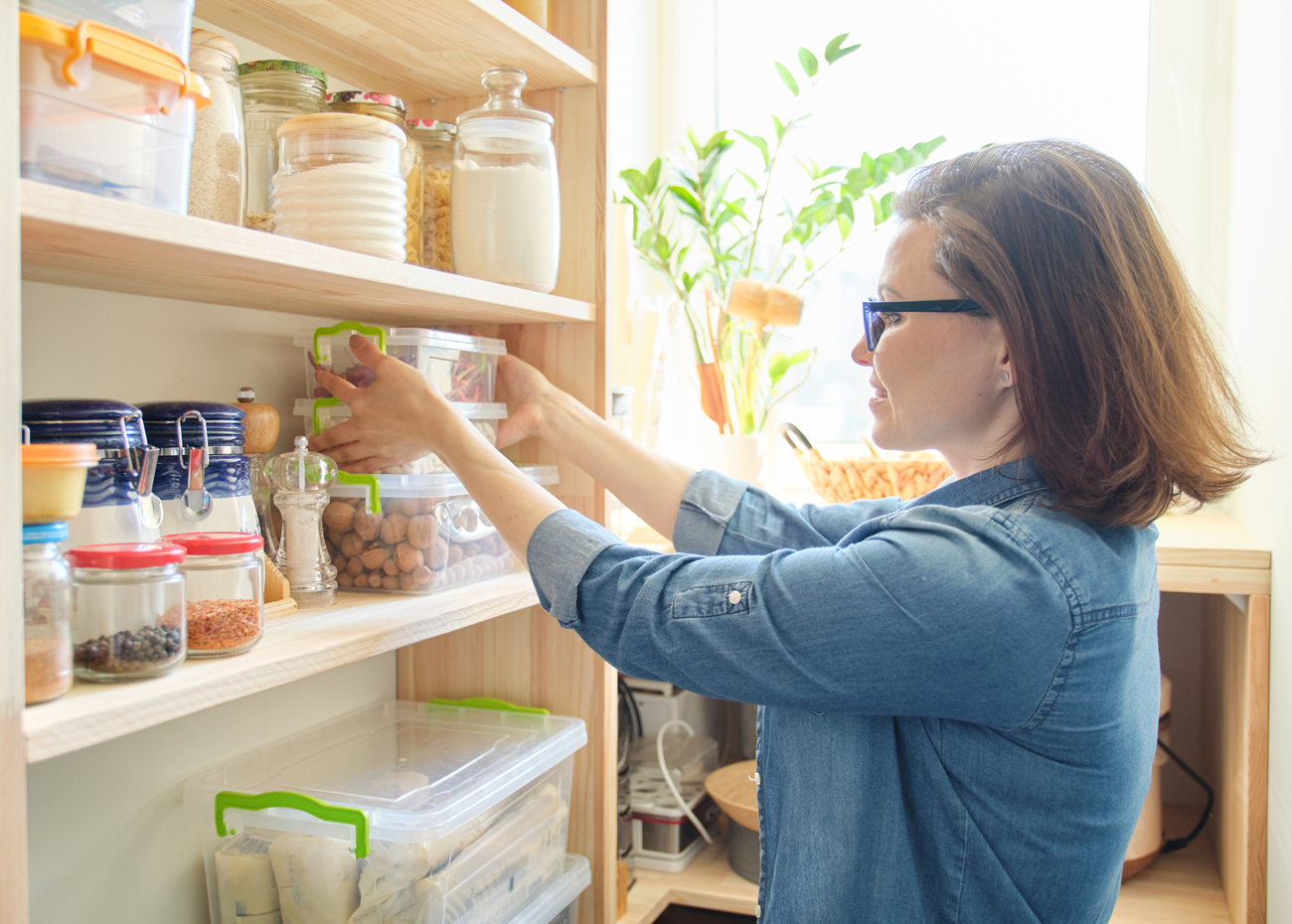 Cleaning Out Pantry