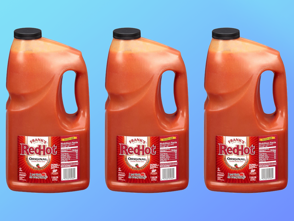 large franks red hot sauce