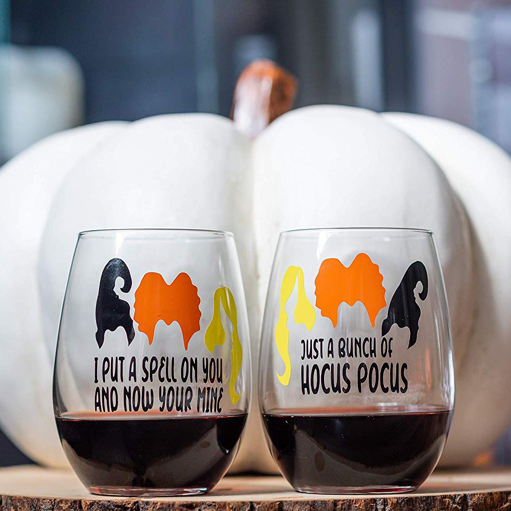 hocus pocus wine glasses