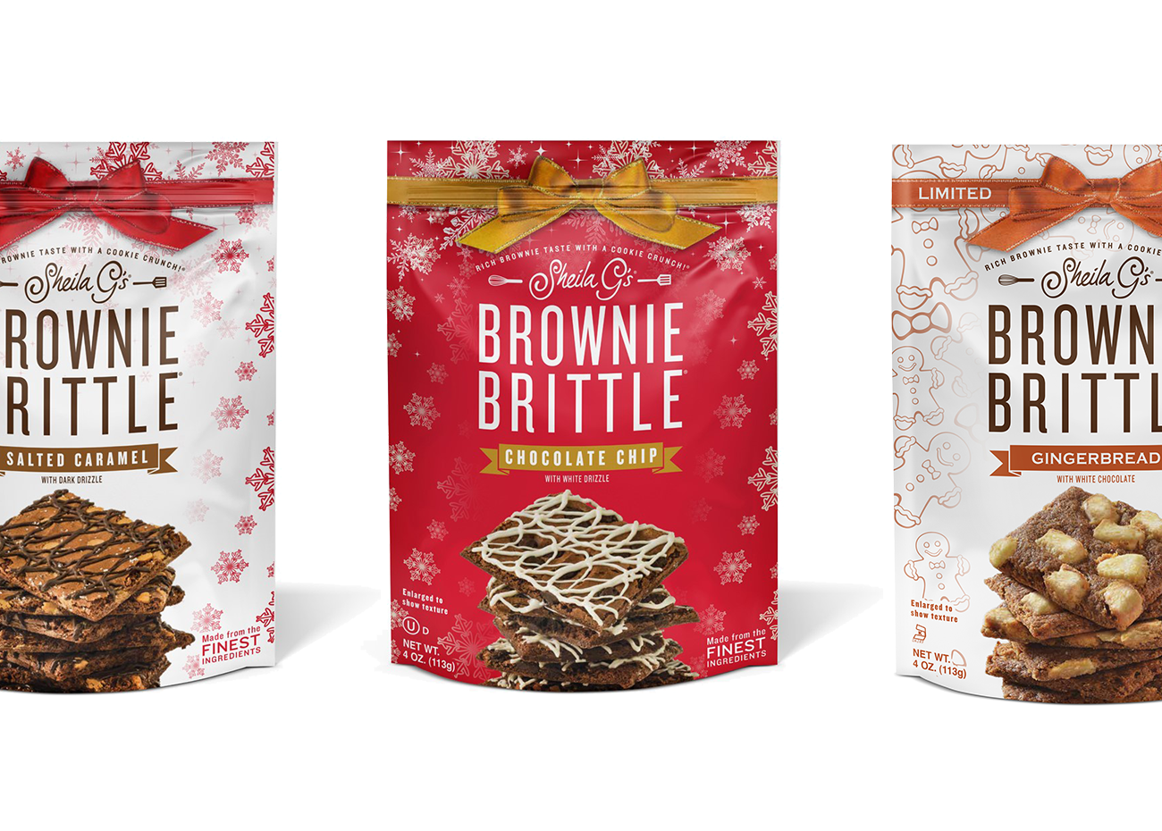 Sheila G Brownie Brittle Holiday Flavors