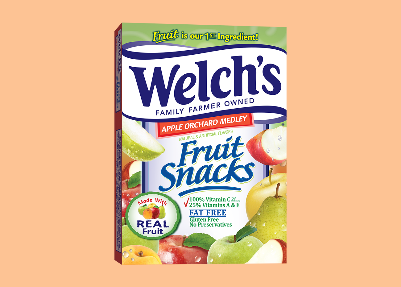 Welch's Apple Orchard Medley Piece Fruit Snack