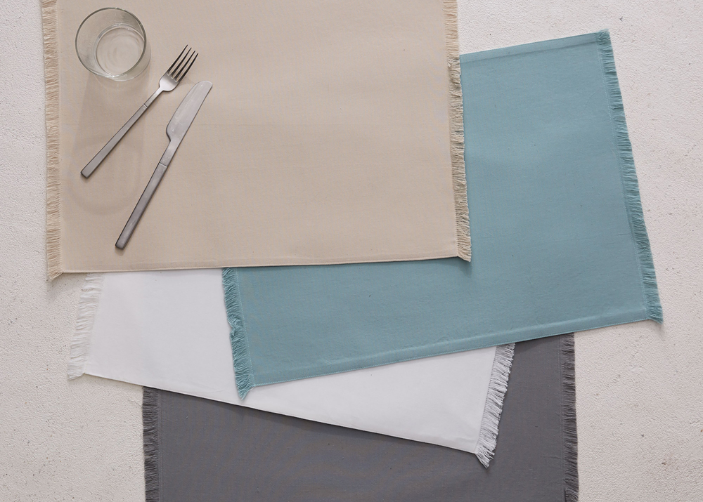 Frayed Edged Placemats