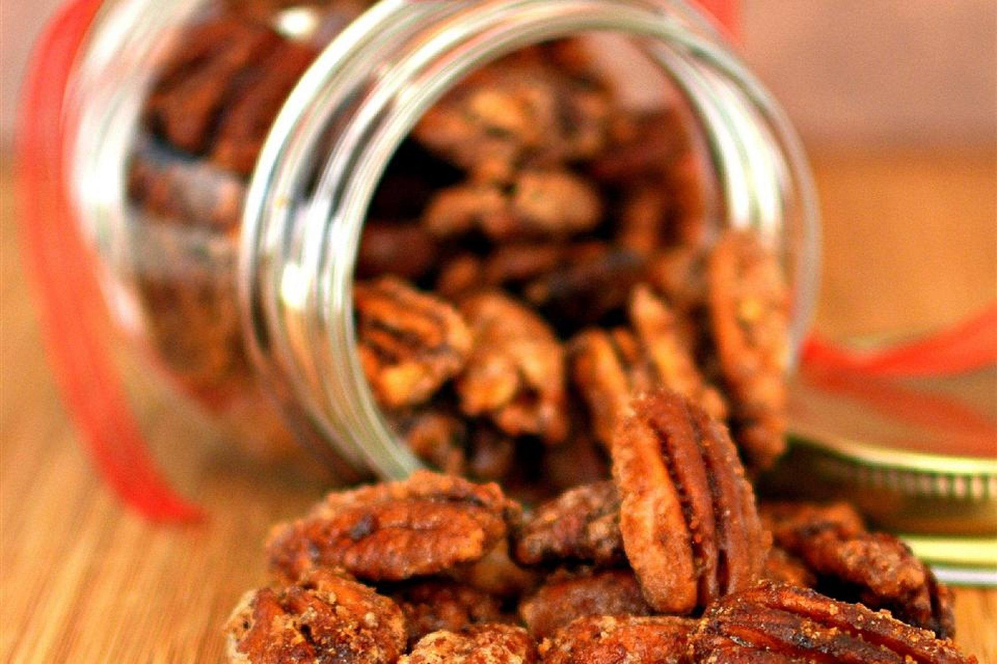 Glazed Spicy Cinnamon Pecans