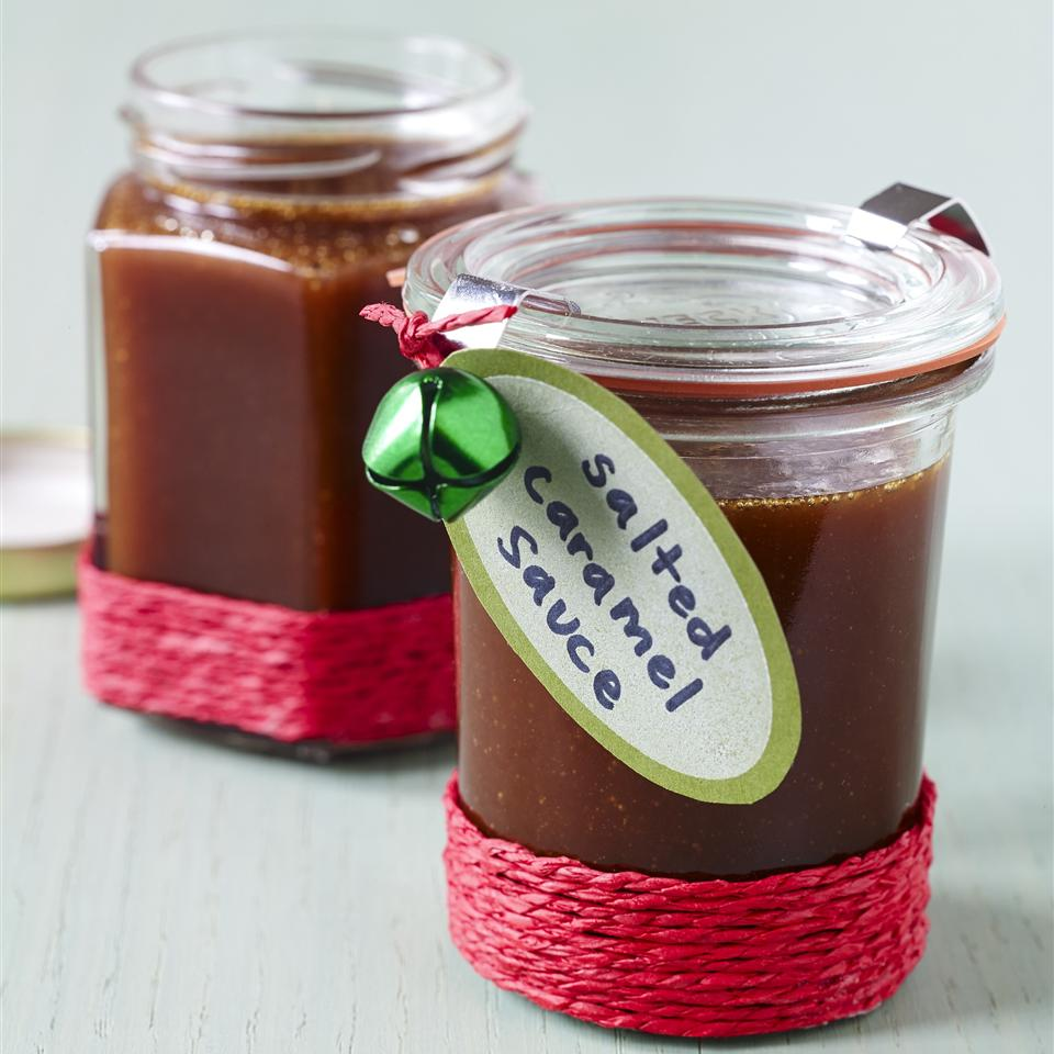 salted caramel sauce with gift label