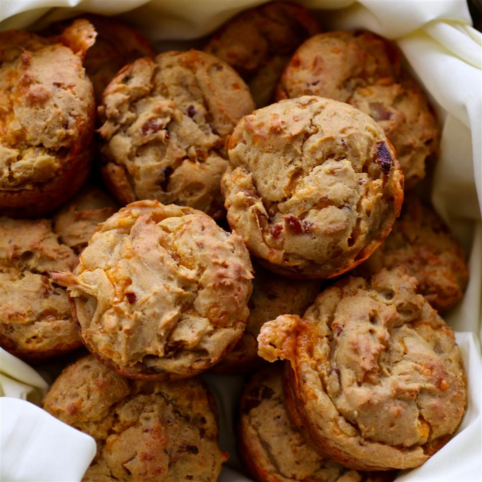 Savory Sweet Potato Muffins with Bacon