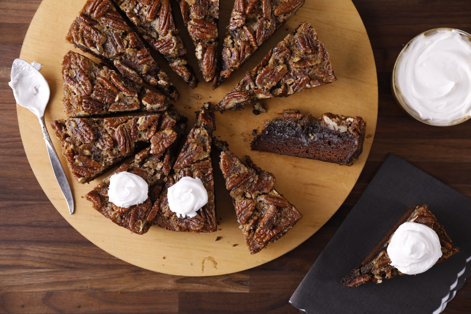 brownies with pecan pie topping
