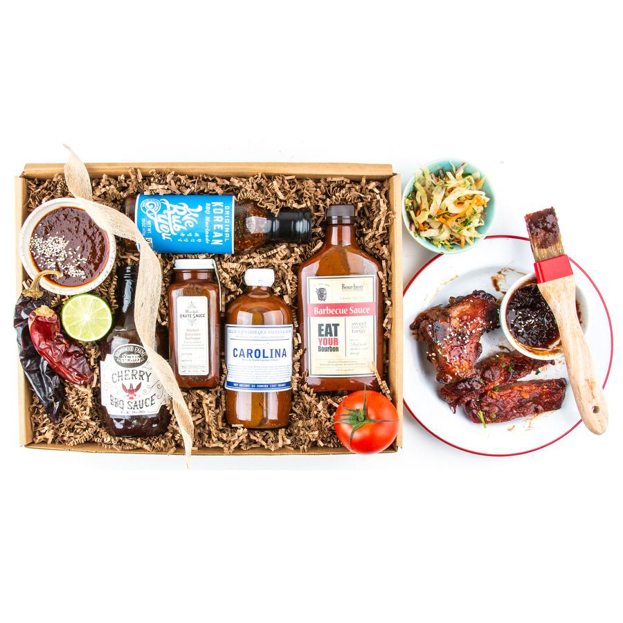 Your grillmaster can experiment to their heart's content with this gift box of assorted barbecue sauces. The set includes a wide variety of saucy options, including a traditional Carolina barbecue sauce, an exotic spicy Korean option, a luscious cherry-based sauce, a smoky habanero sauce, and more. The sauces are all hand-selected from small American producers and come packaged with a signature tote bag… a ready-made gift presentation!
