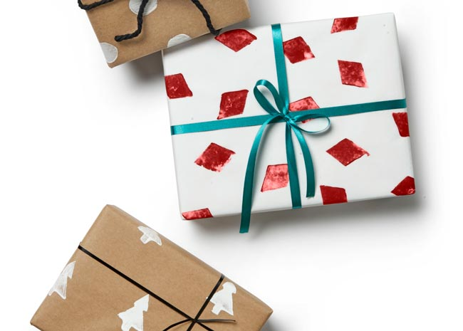 homemade gift wrapped presents