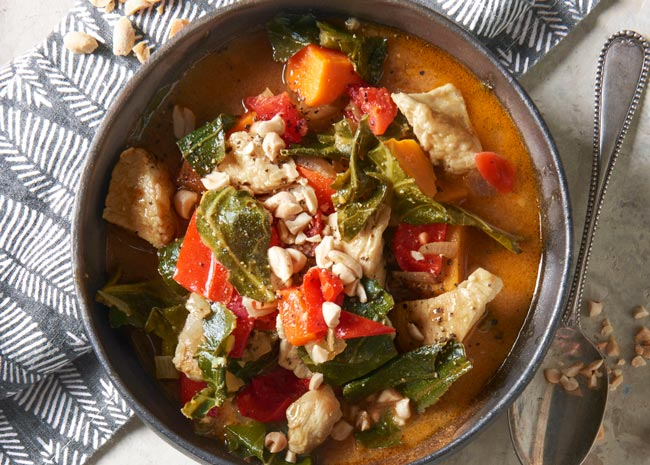 african stew with chicken and peanuts