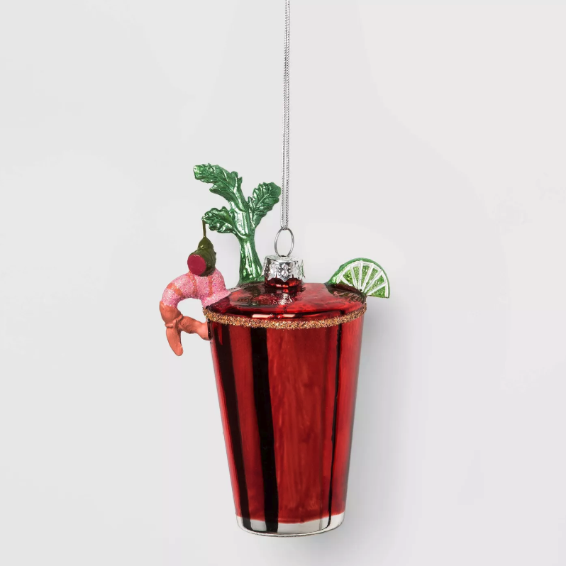 Bloody Mary Glass Christmas Ornament