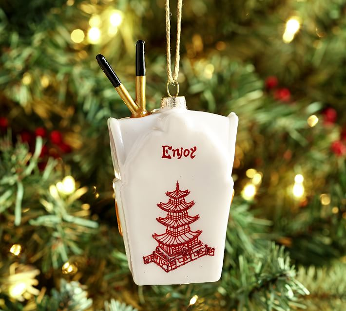 Resin Takeout Box Ornament