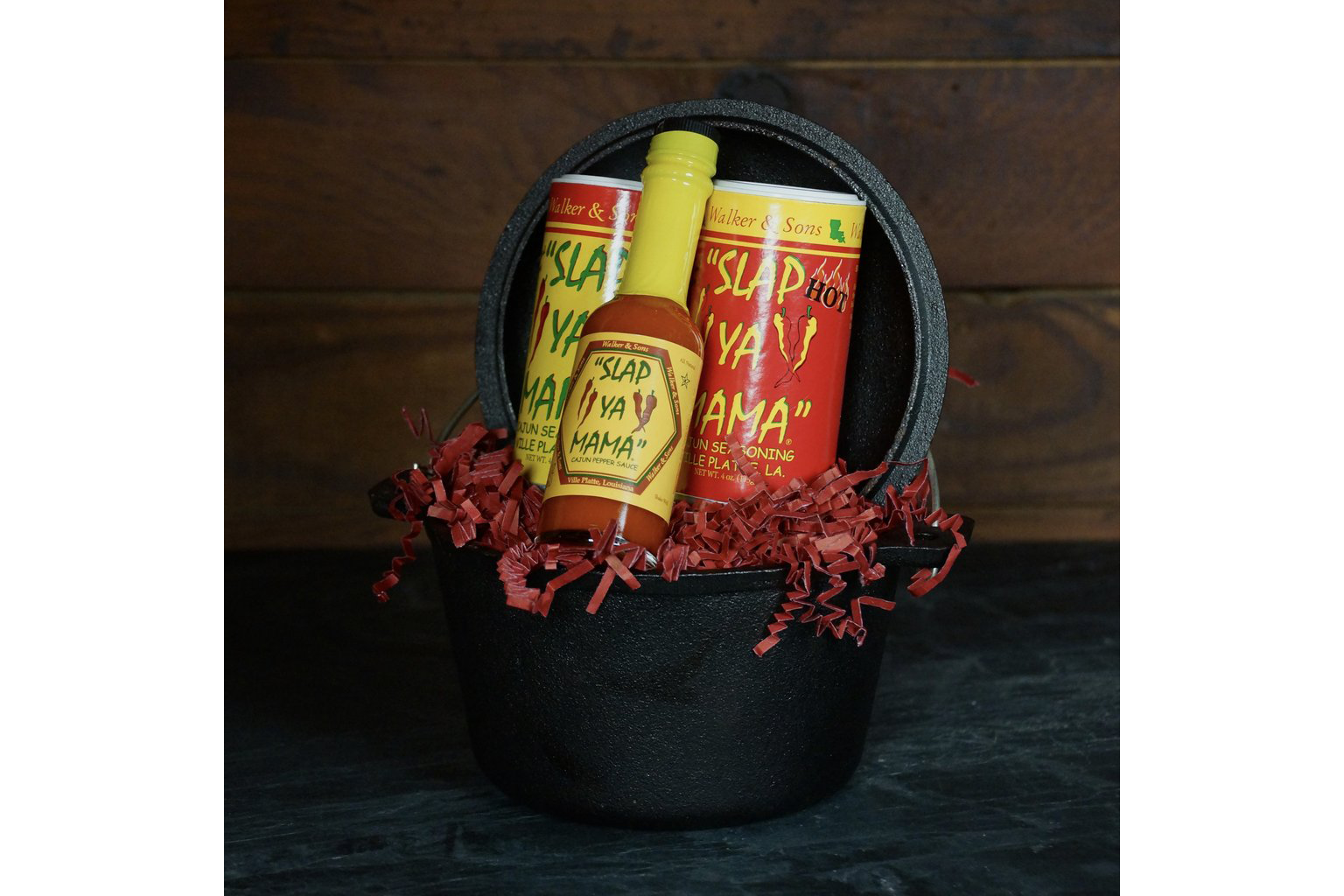 Slap Ya Mama Black Pot Cajun Gift Set