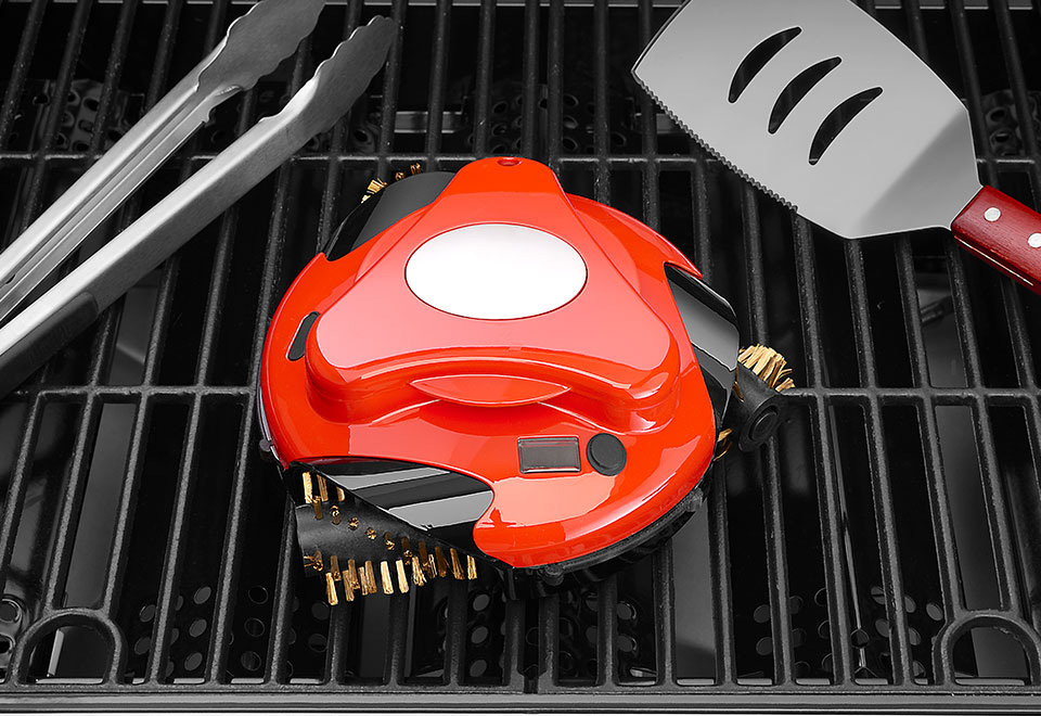 Automatic BBQ Grill Cleaning Robot & Storage Case