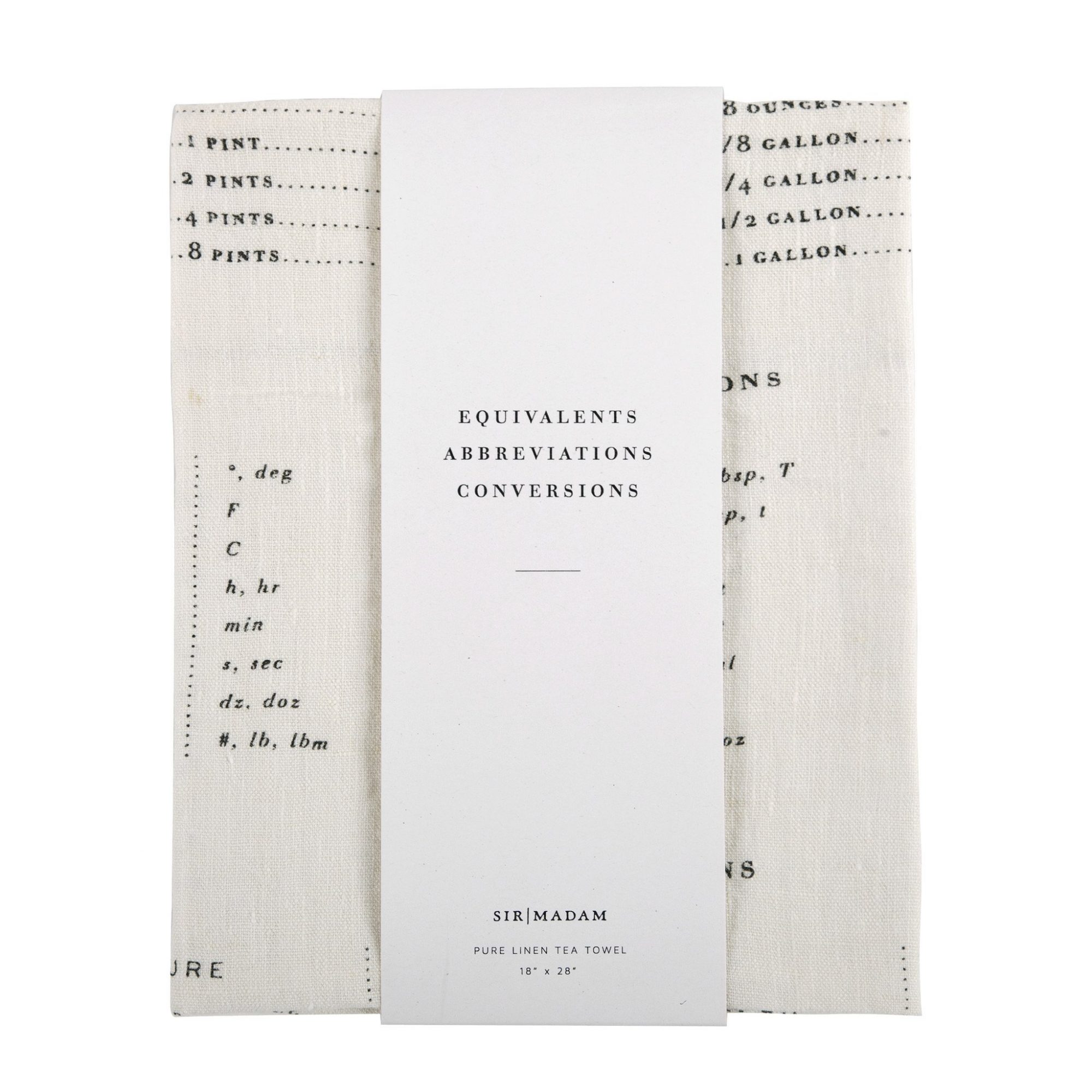Equivalents Tea Towel