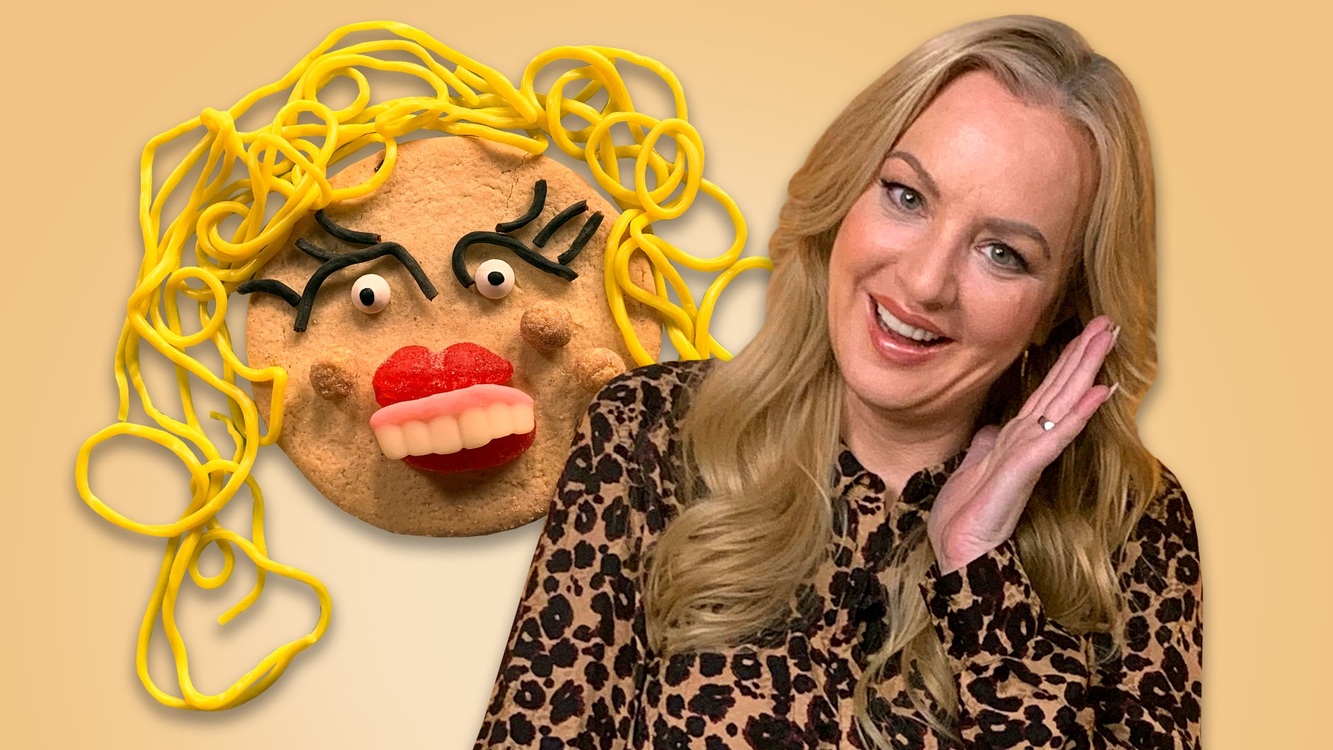 Wendi McClendon-Covey and her cookie self-portrait