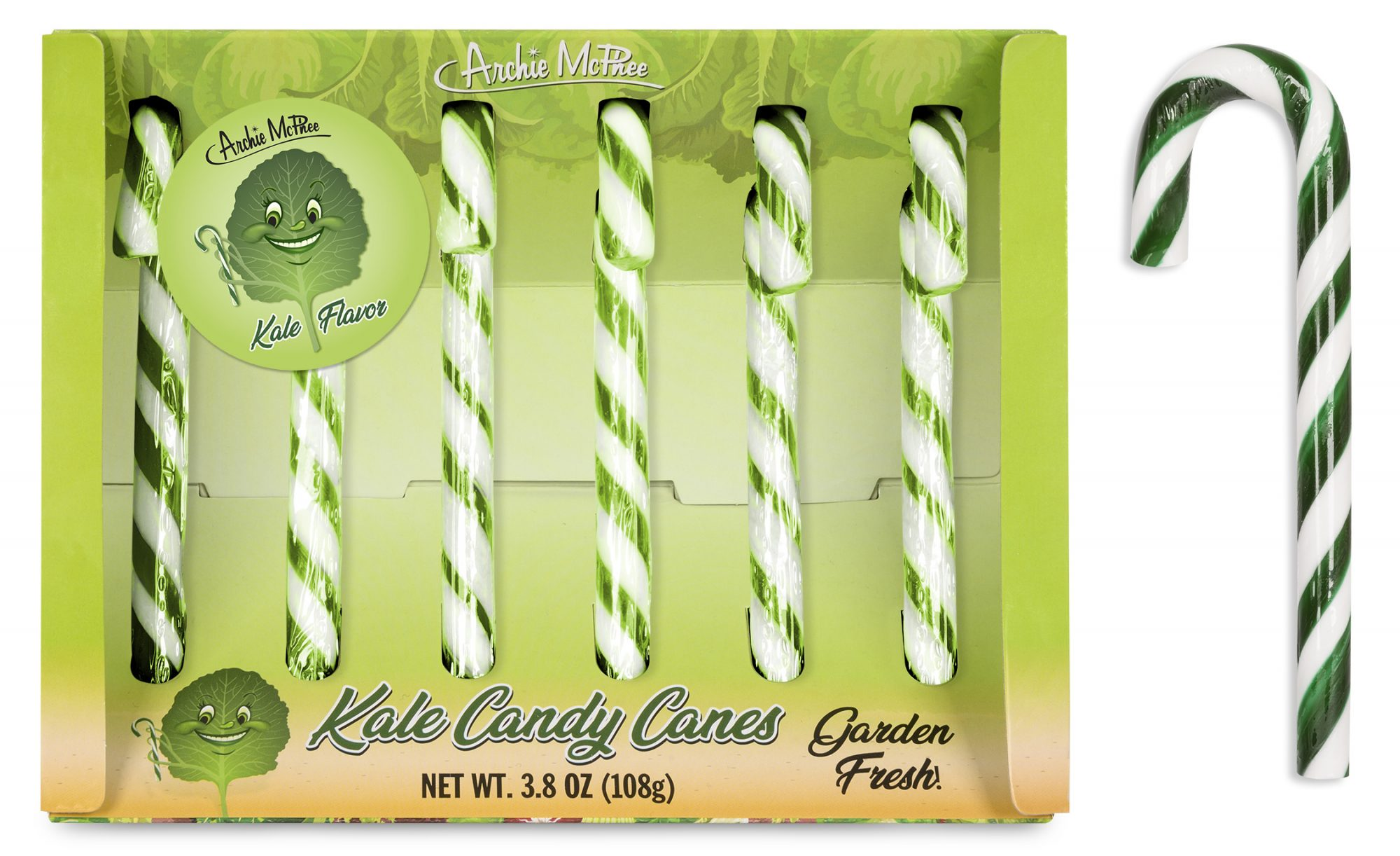 Archie McPhee Kale Candy Canes