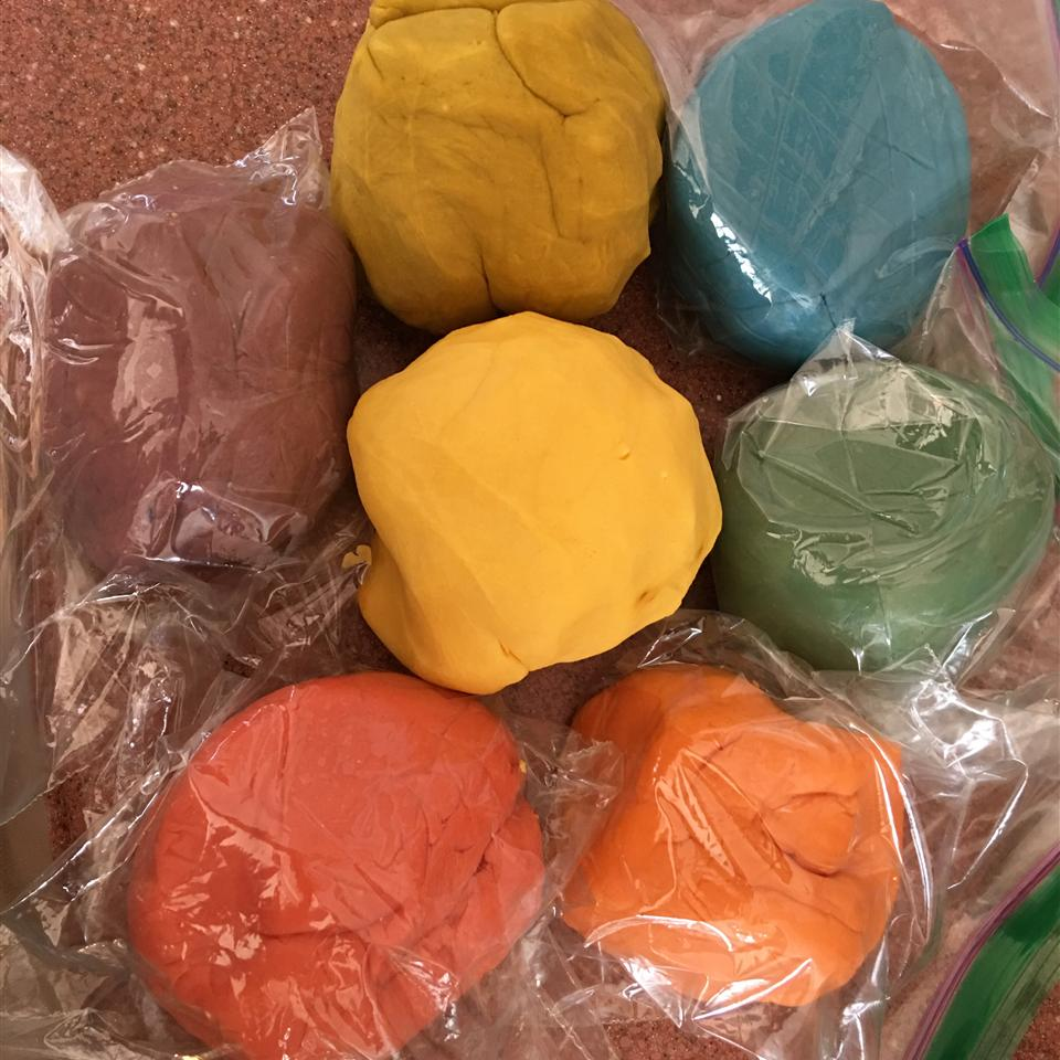 Colorful and Edible Play Dough