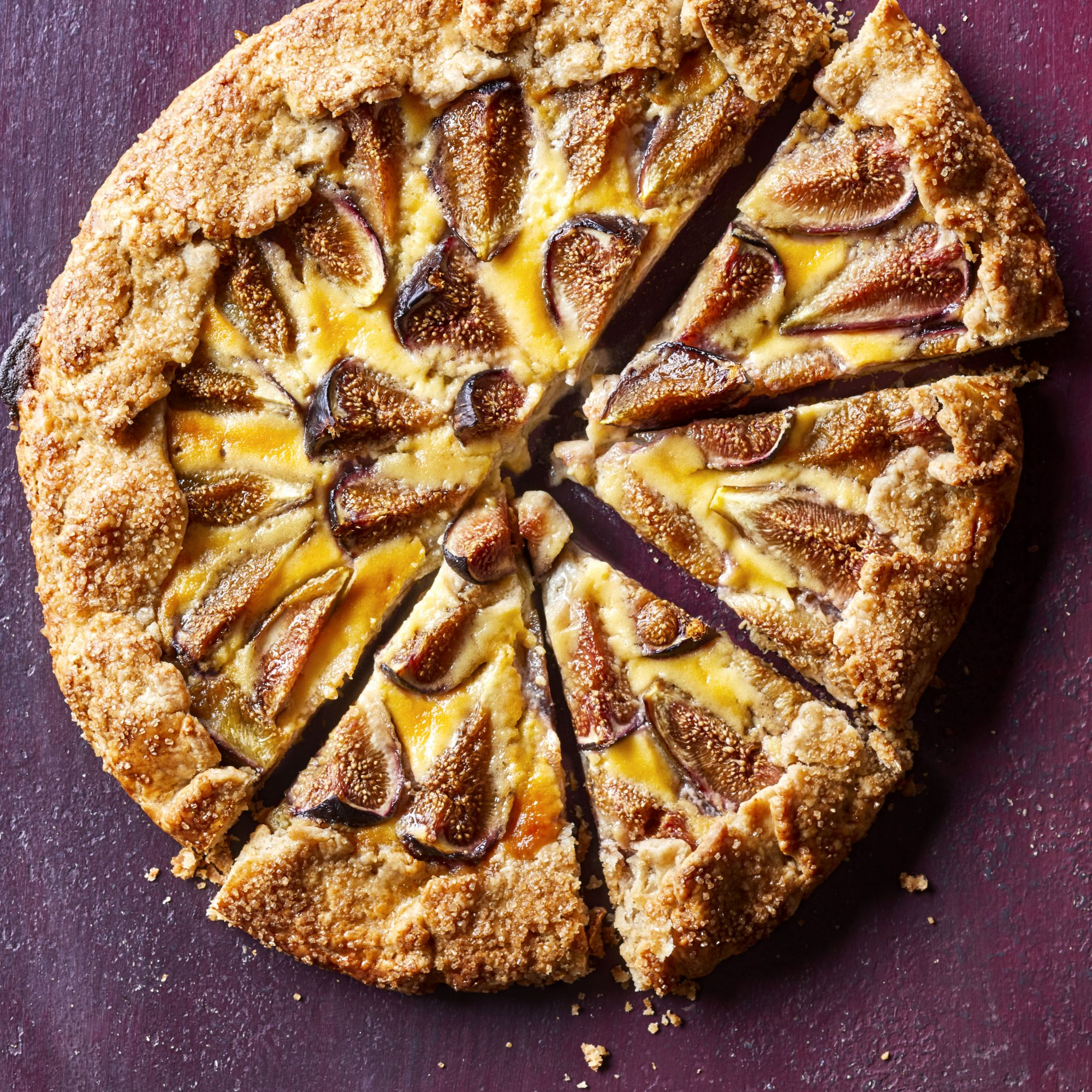 open-face tart baked with figs and honey