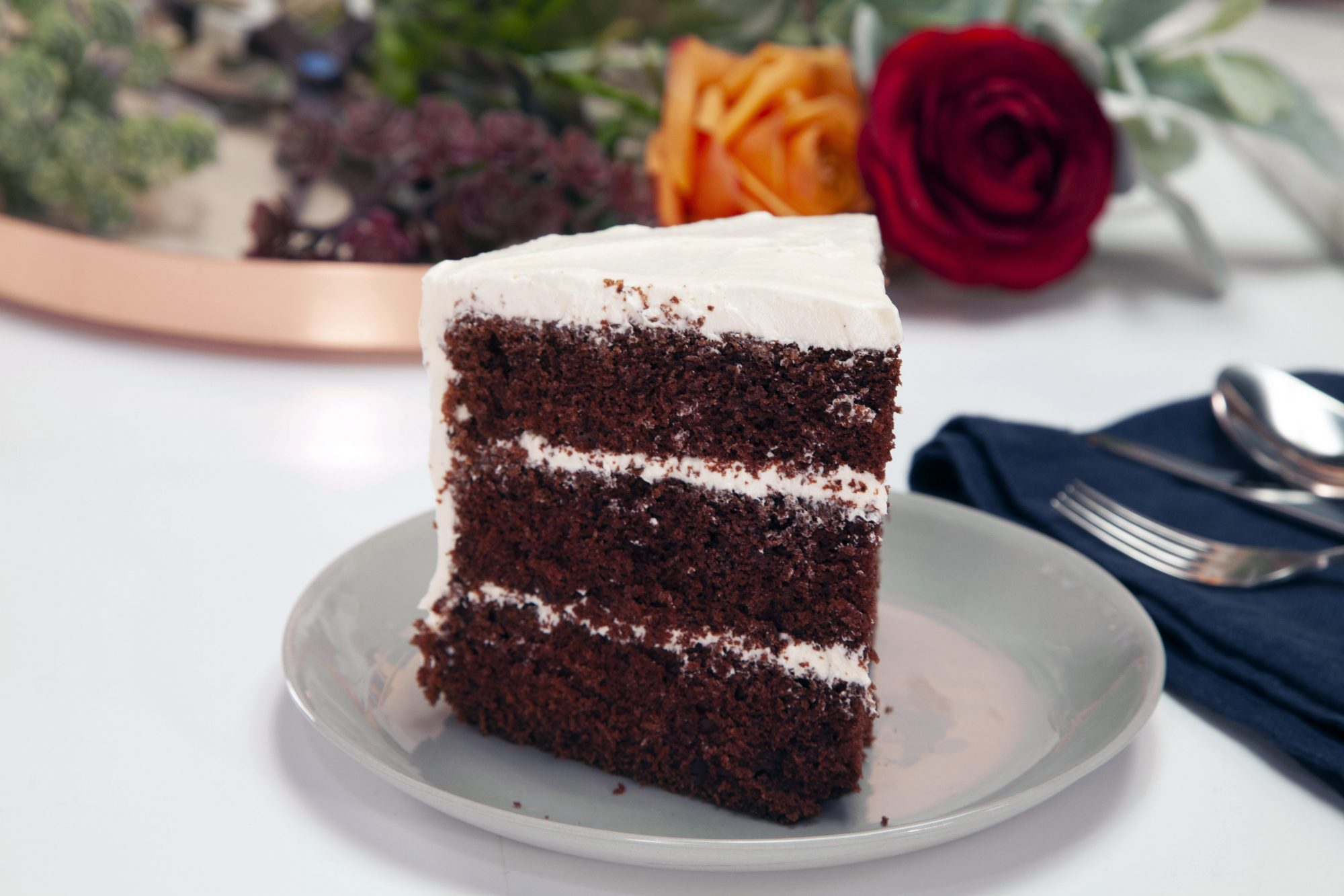 Though it's a Christmas-appropriate shade of red, The Real Red Velvet Cake requires no food coloring thanks to non-alkalized cocoa powder. An old-fashioned white ermine frosting tops it off.