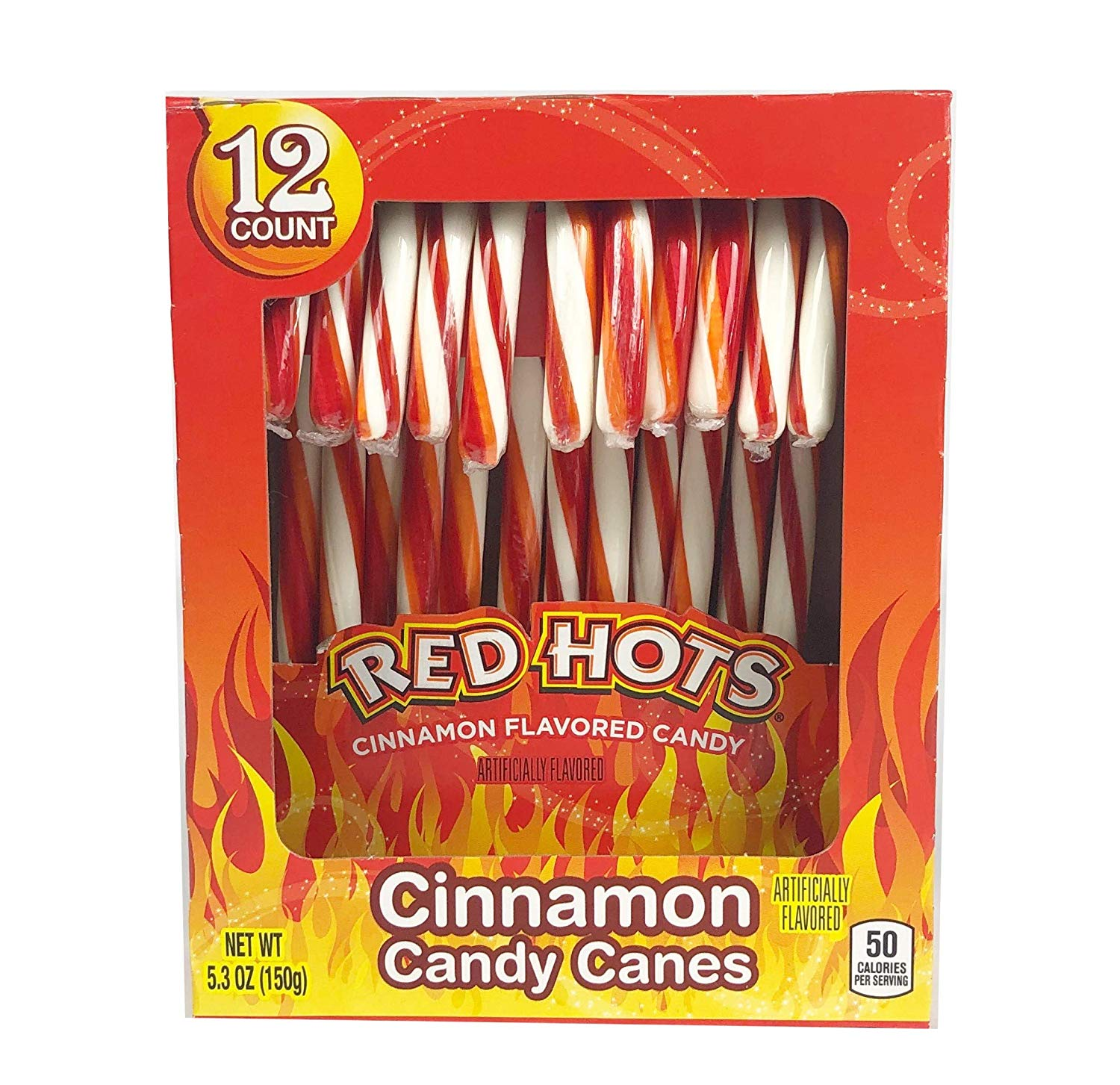 Brach's Red Hots Cinnamon Flavored Candy Canes
