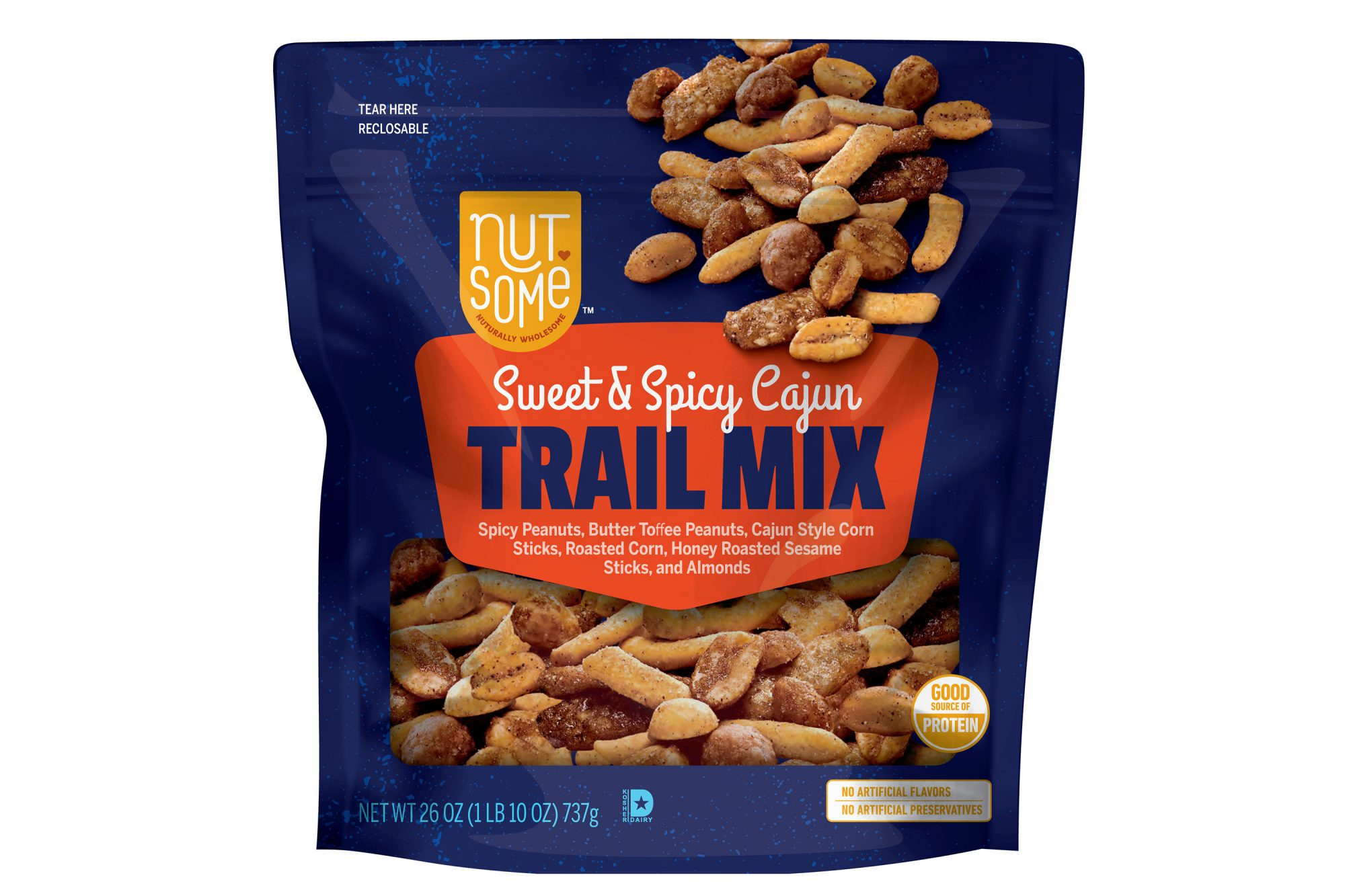 Nutsome-Sweet-Spicy Cajun Trail Mix