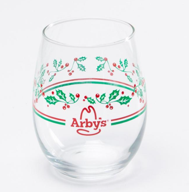 Arbys Holiday Glass