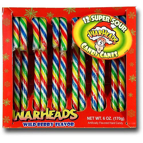 Warheads Holiday Candy Canes