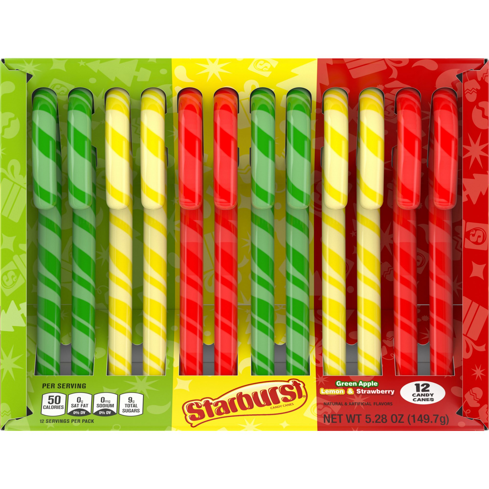 Starburst Holiday Candy Canes