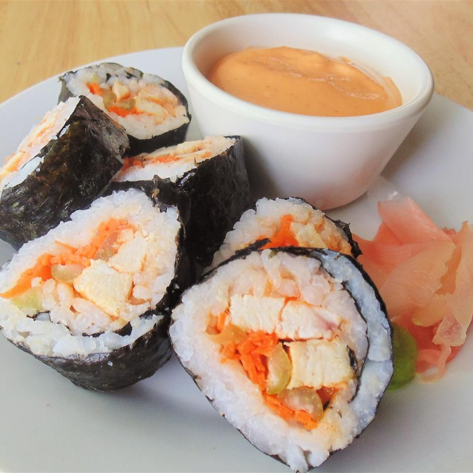 Buffalo Chicken Sushi Roll