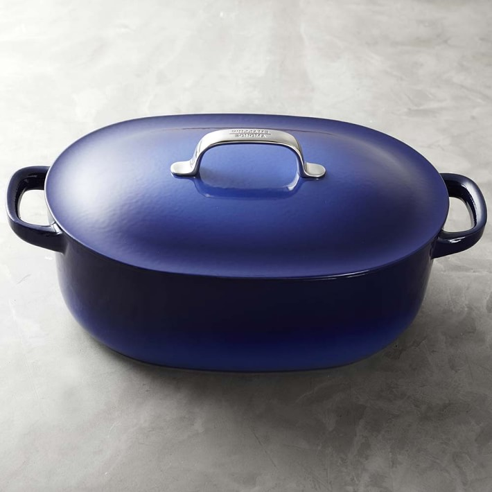 Williams Sonoma Cast-Iron by Staub Oval Oven