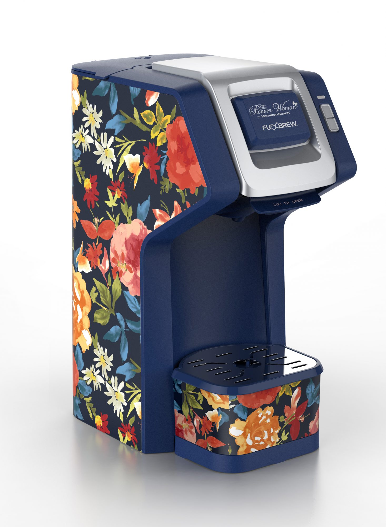 Pioneer Woman Fiona Floral FlexBrew Single-Serve Coffee Maker by Hamilton Beach