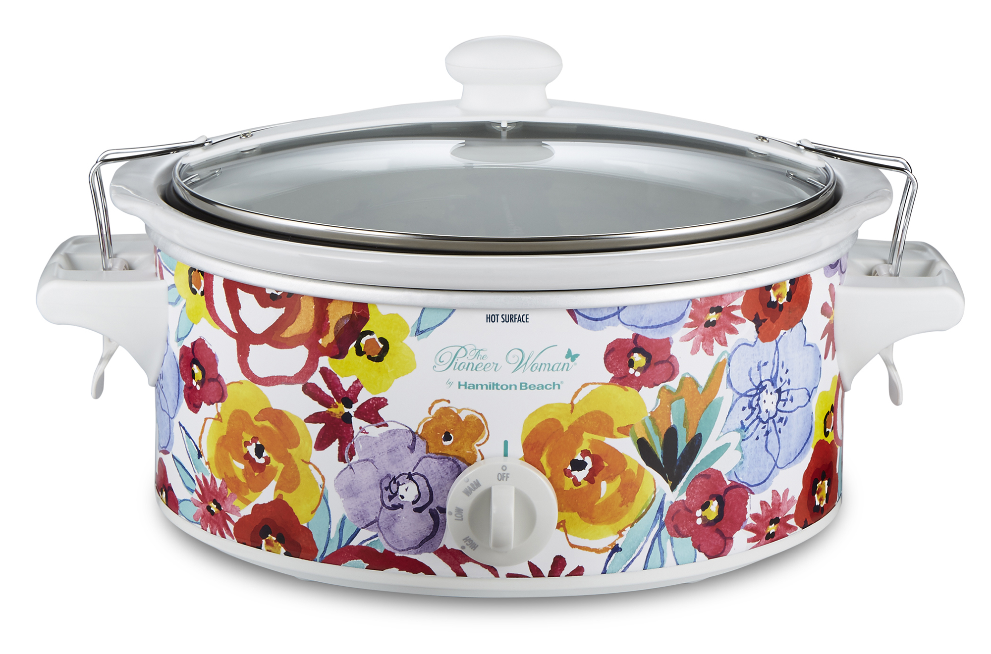The Pioneer Woman Flea Market Floral 6-Quart Portable Slow Cooker