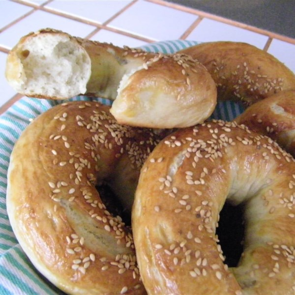 "You'll boil these San Francisco-style bagels first and then bake them to a beautiful golden brown. Try them with cream cheese—or make amazing sandwiches with your homemade bagels. ""I accidentally stumbled upon a method for making bagels that were structurally and texturally superior,"" says Chef John. ""I decided to take advantage of that fact, and the San Francisco-style bagel was born."""