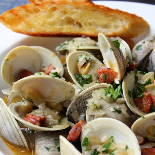 Chorizo Steamed Clams