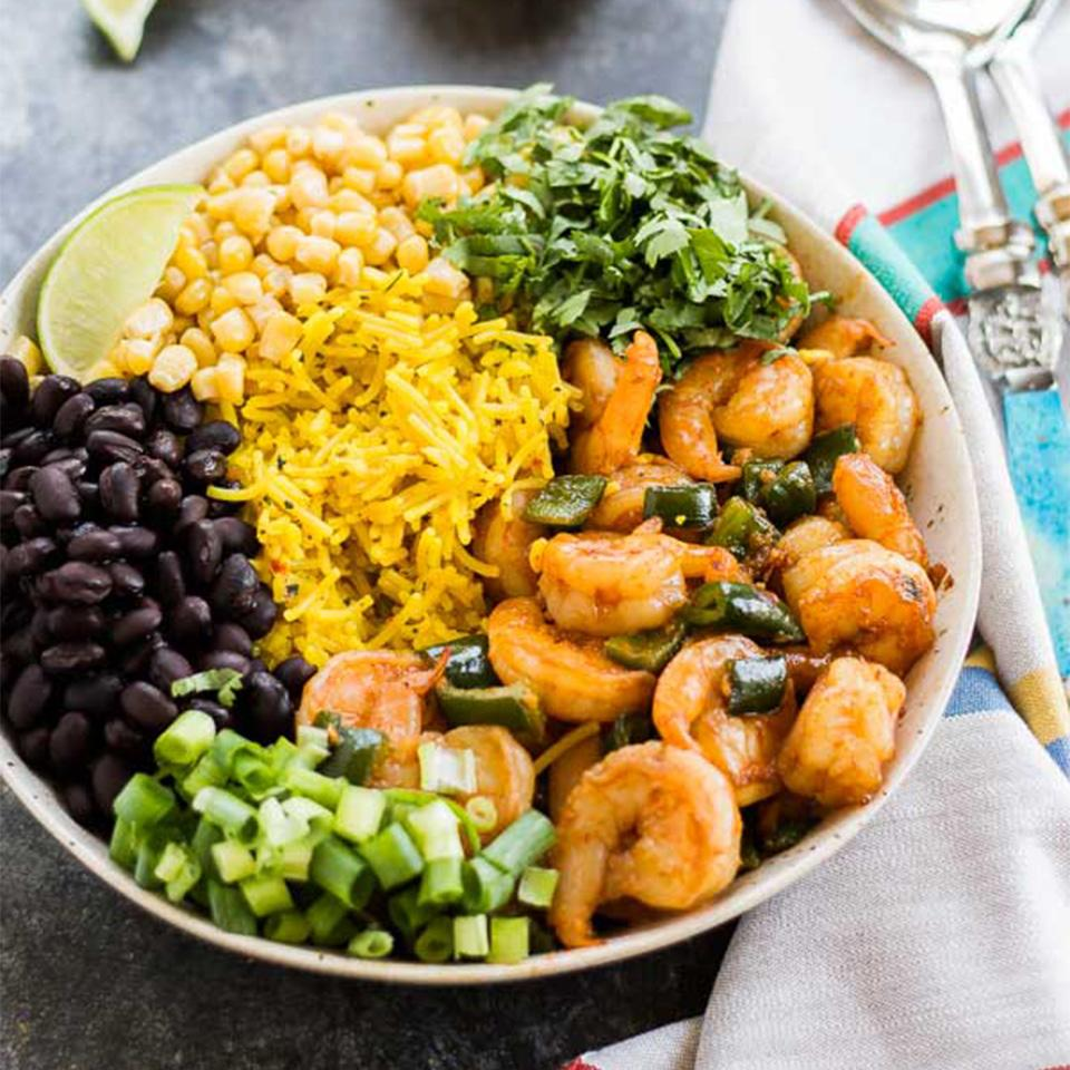 Chipotle Shrimp and Rice Bowl