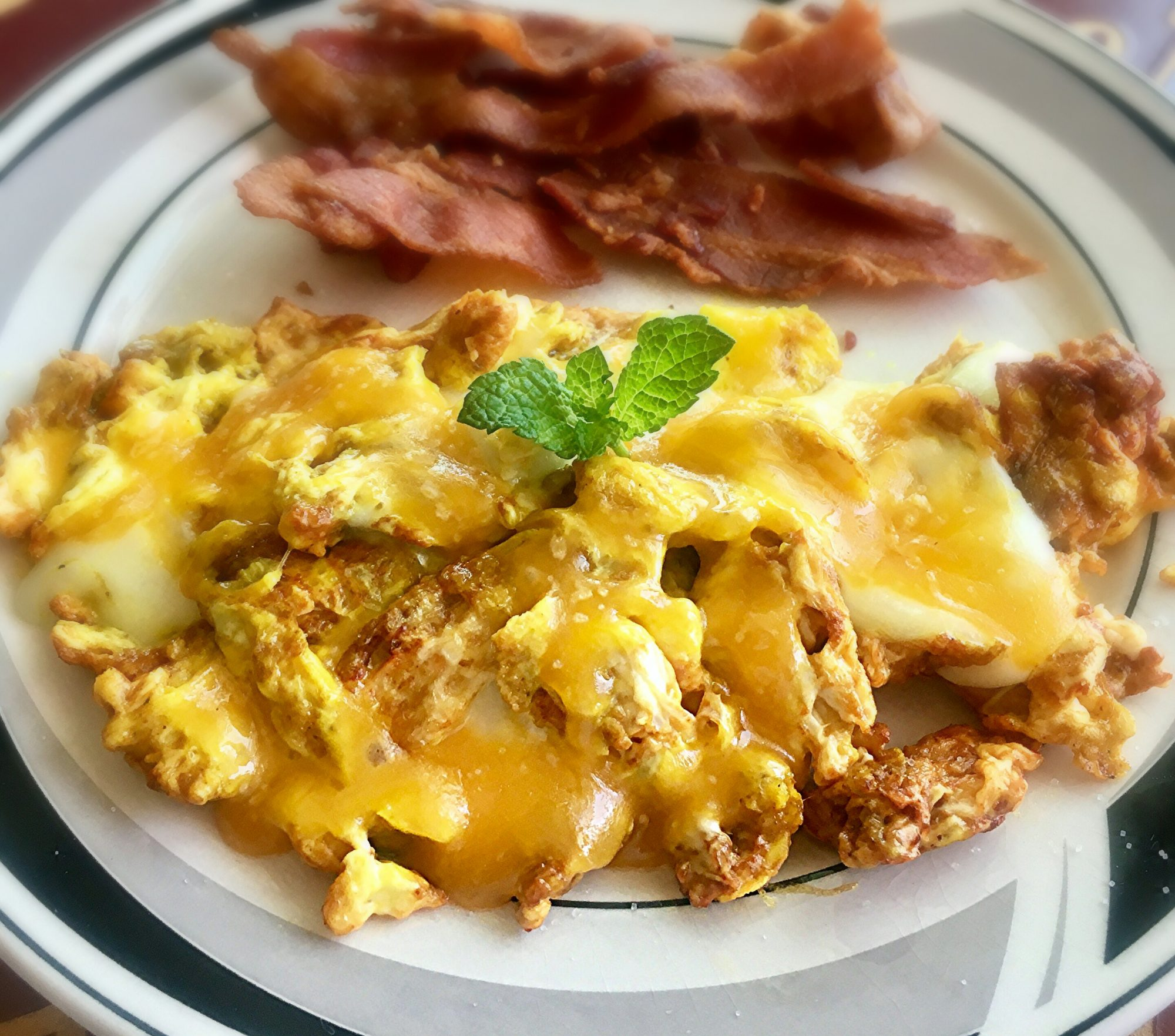 Turmeric Eggs and Cheese