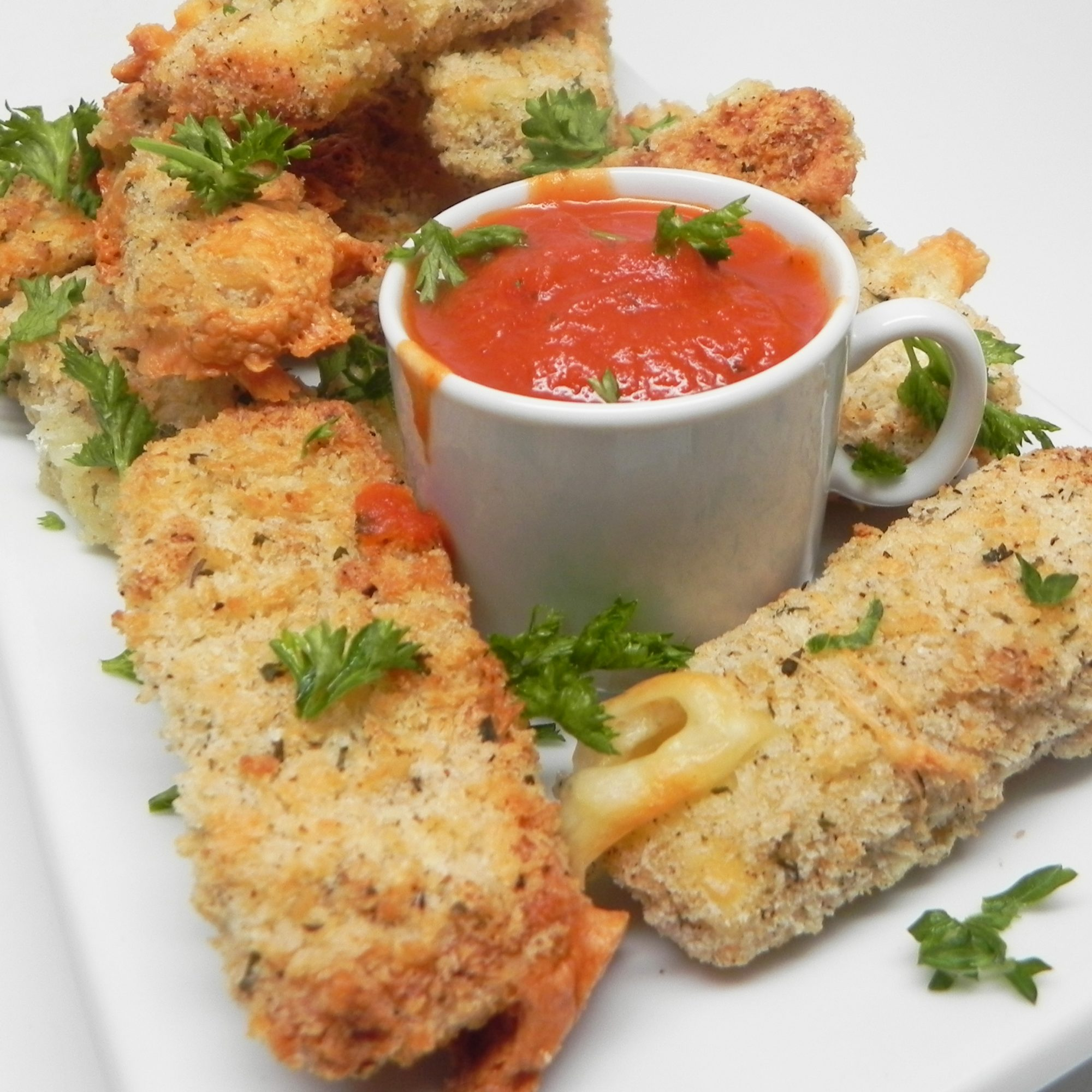 Air-Fried Mozzarella Sticks