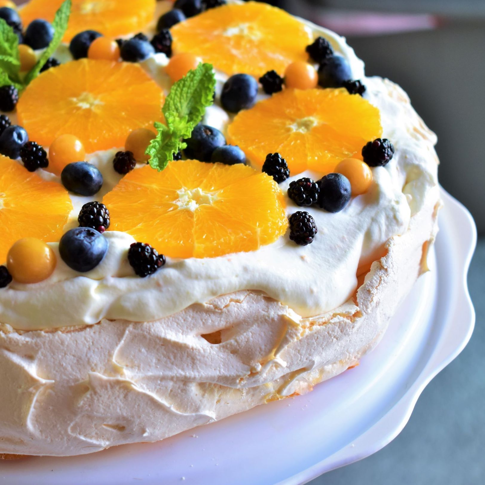 Orange-Berry Pavlova