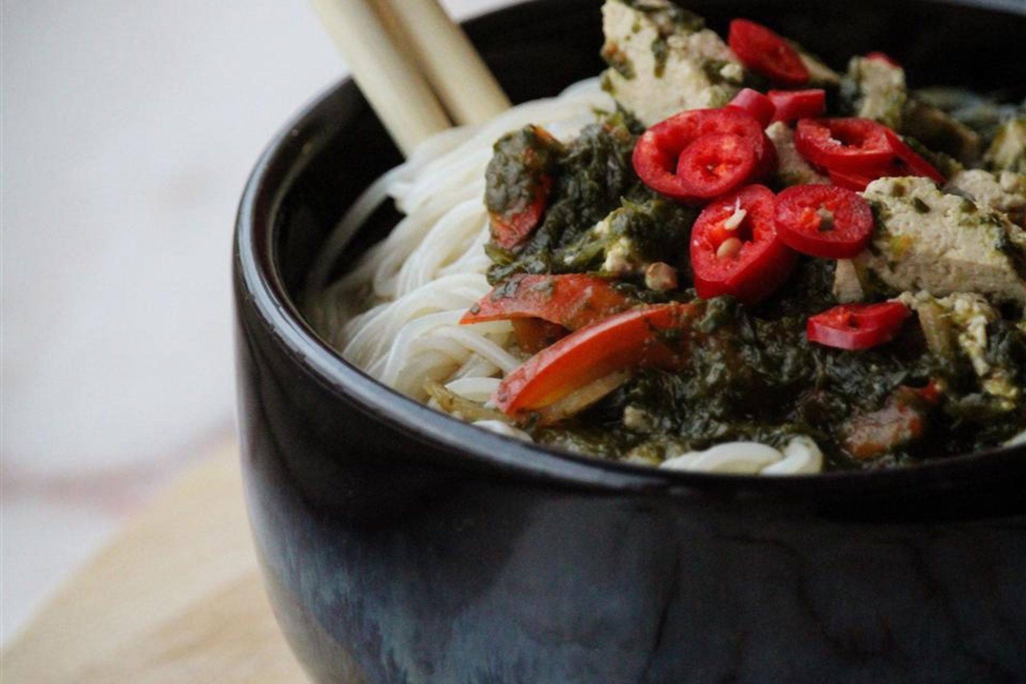 Asian-Inspired Vegetable Noodle Bowl