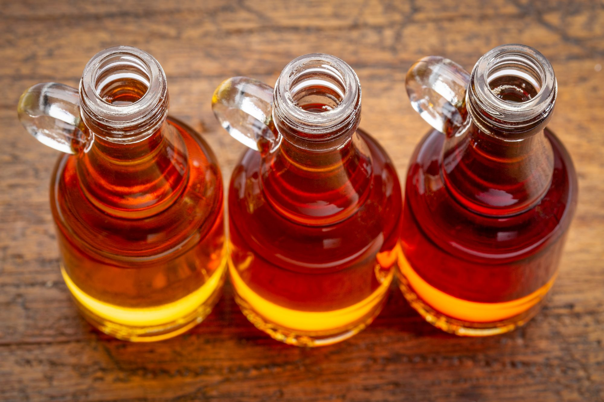 sampler of pure maple syrup