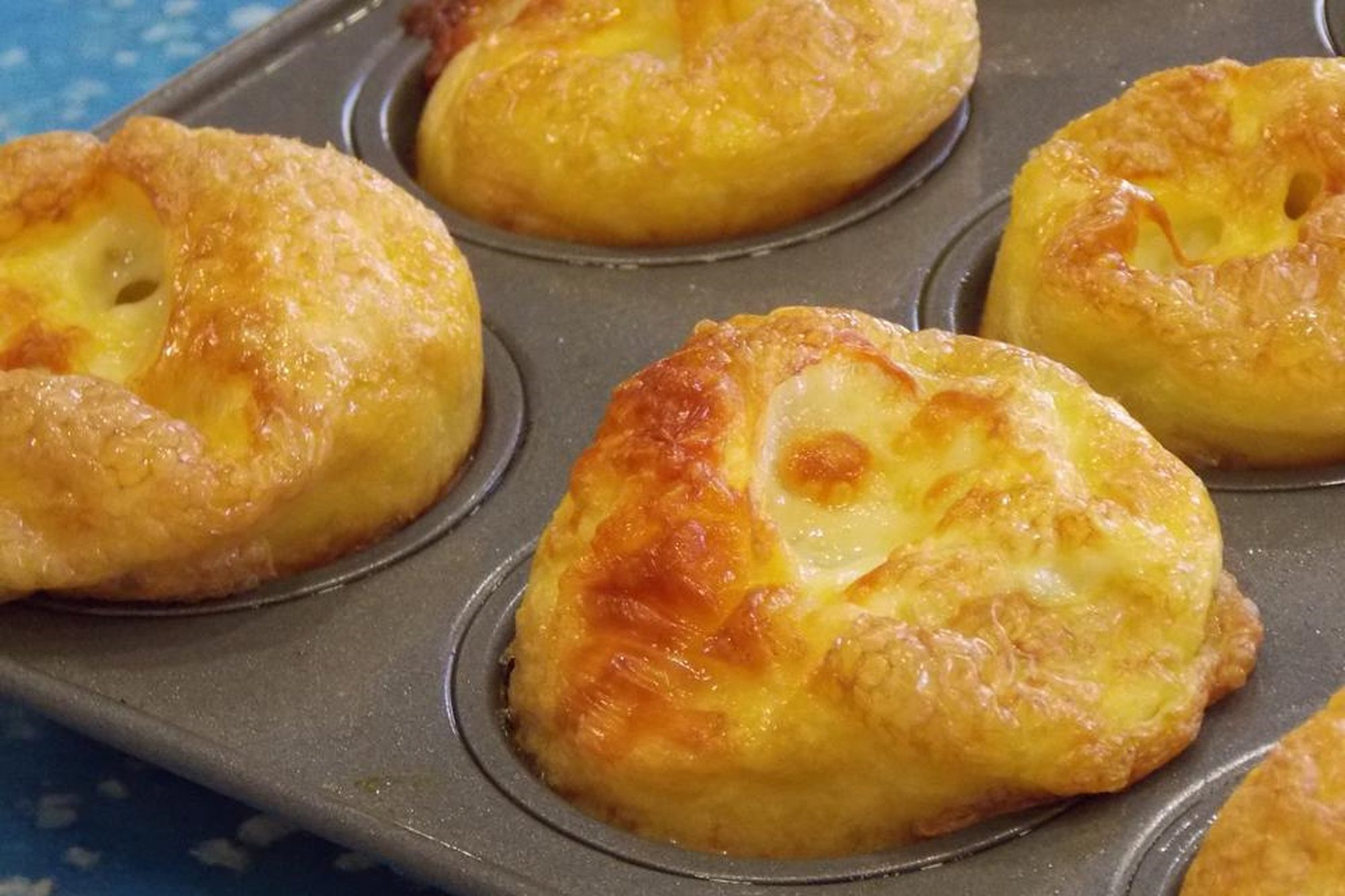 Mini Ham and Swiss Frittatas